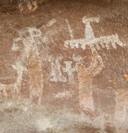 Las fascinantes cuevas pintadas de Guachipas, Salta